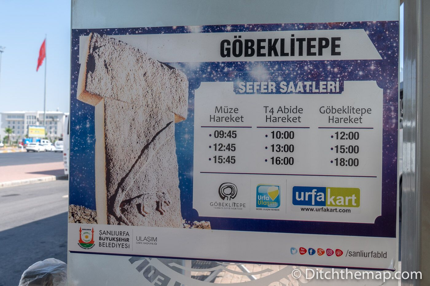 The bus schedule for Göbekli Tepe