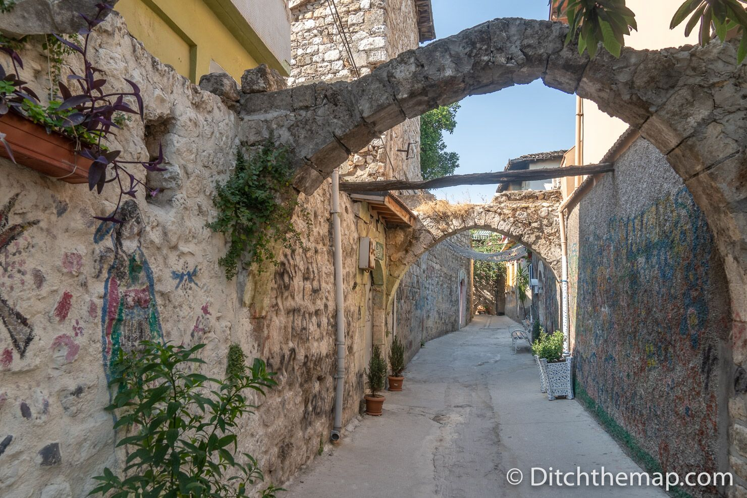 Stone arches in the alley ways of Old Town Antakya