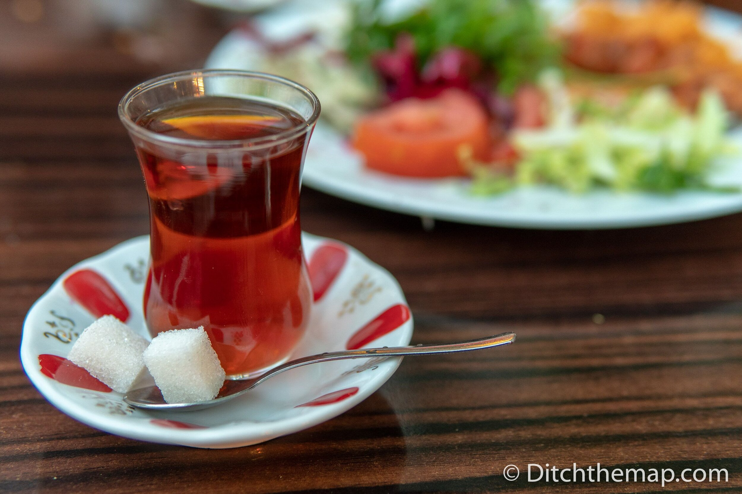 A cup of çay, or Turkish tea, is a symbol of hospitality
