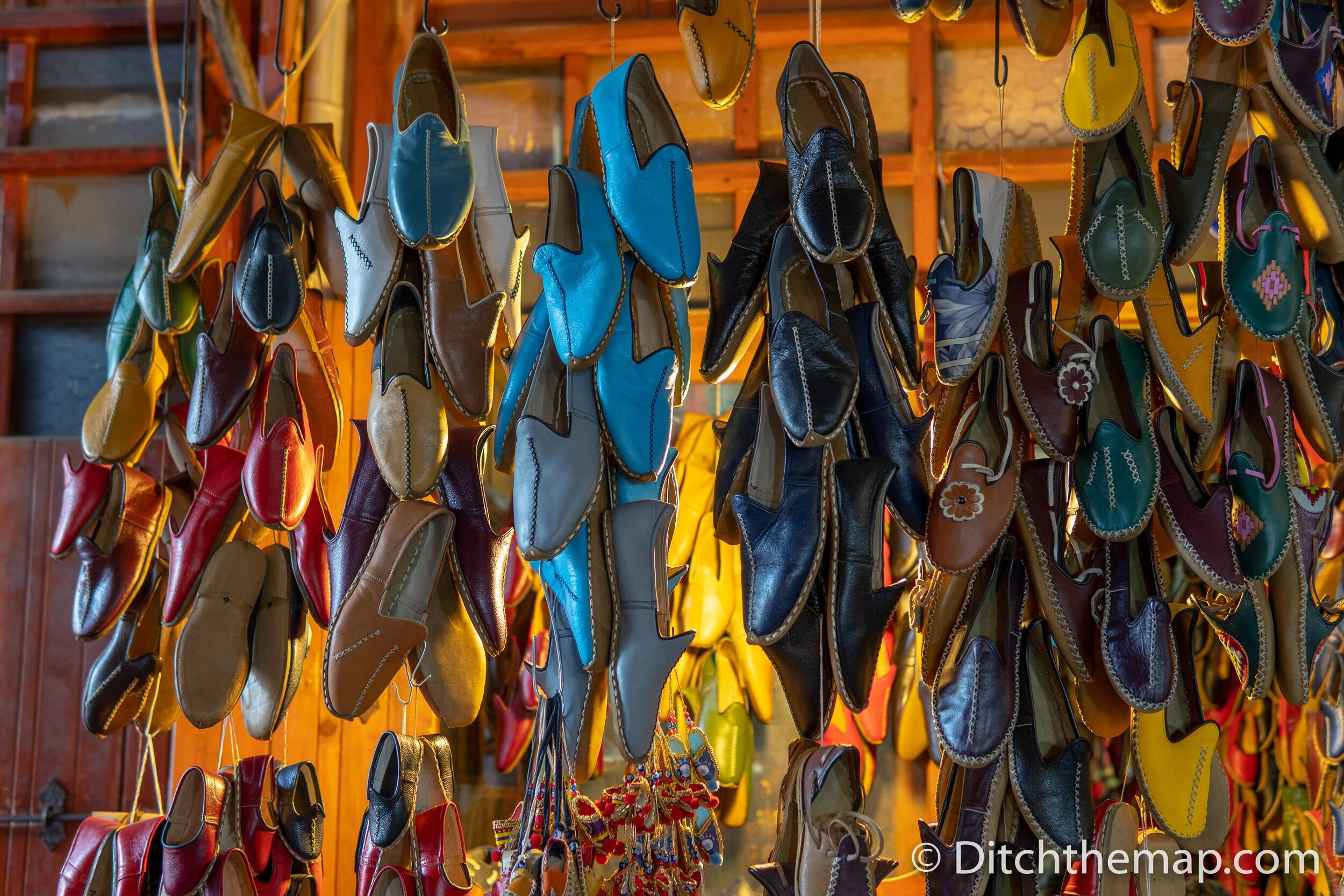 Leather shoes for sale in Gaziantep, Turkey