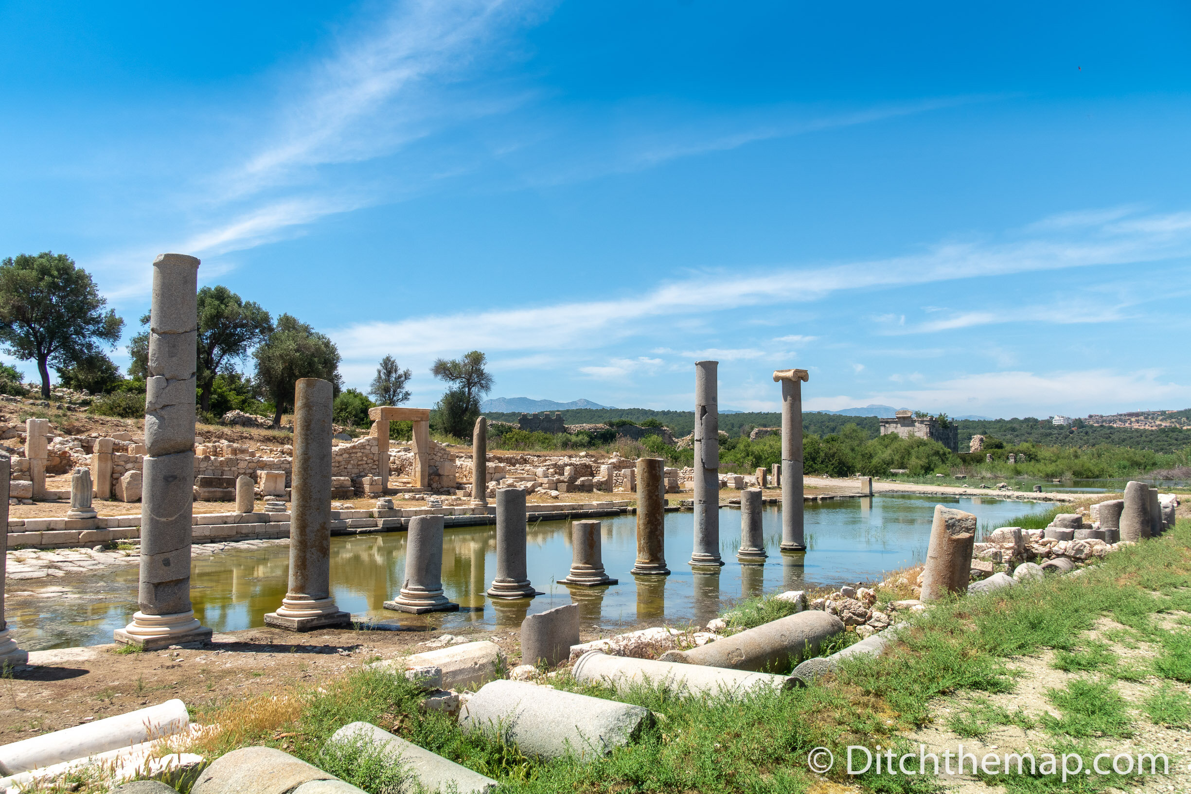 Sighting the ancient ruins of Patara on the southwestern coast of Turkey