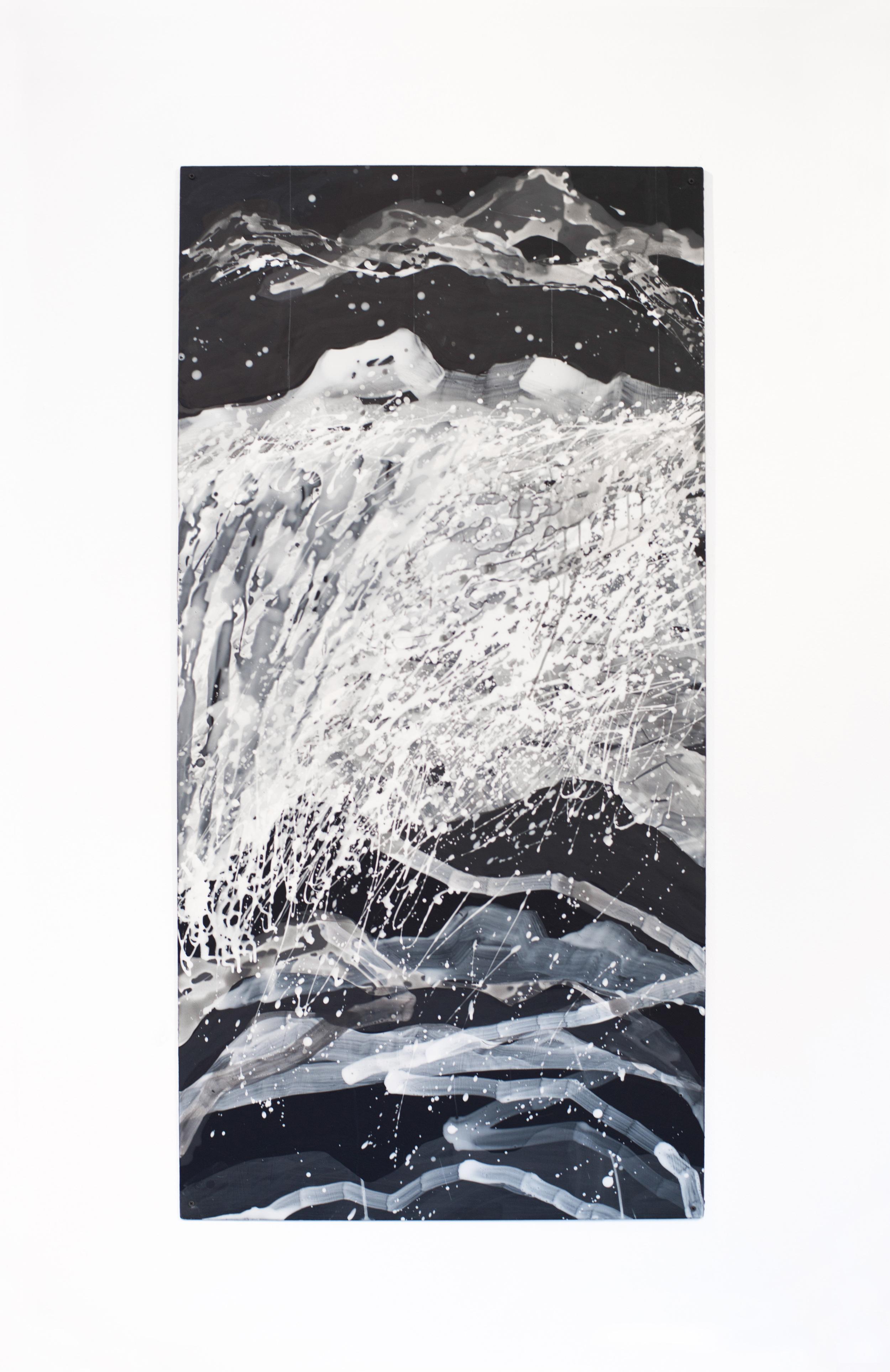 Nancy Manter    Endless Landscape #2 ,  2012  Collage, distemper on aluminum panel 60 x 40 inches