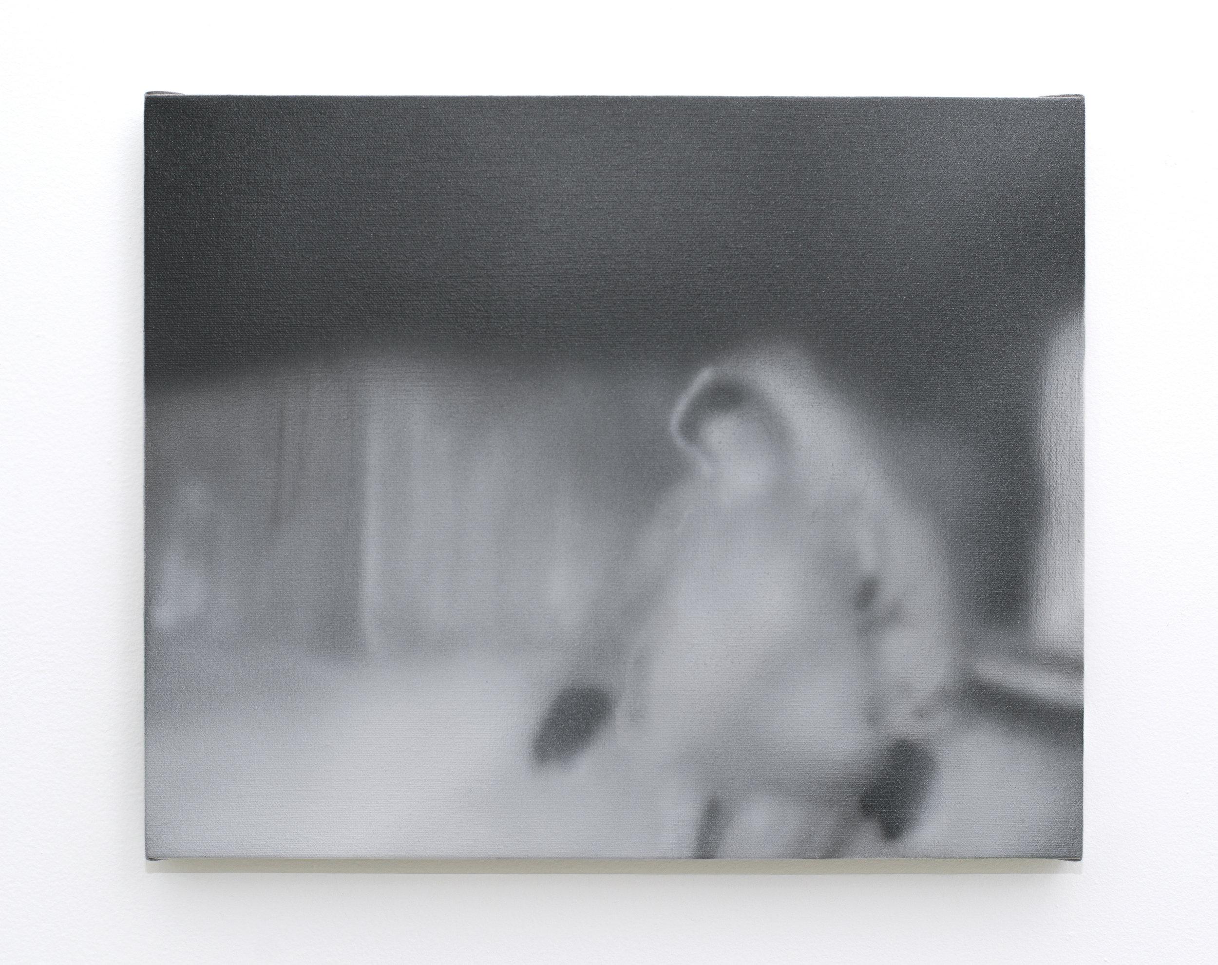 Ian Swanson   Untitled (ATM skimmer),  2016 Acrylic, gesso on linen