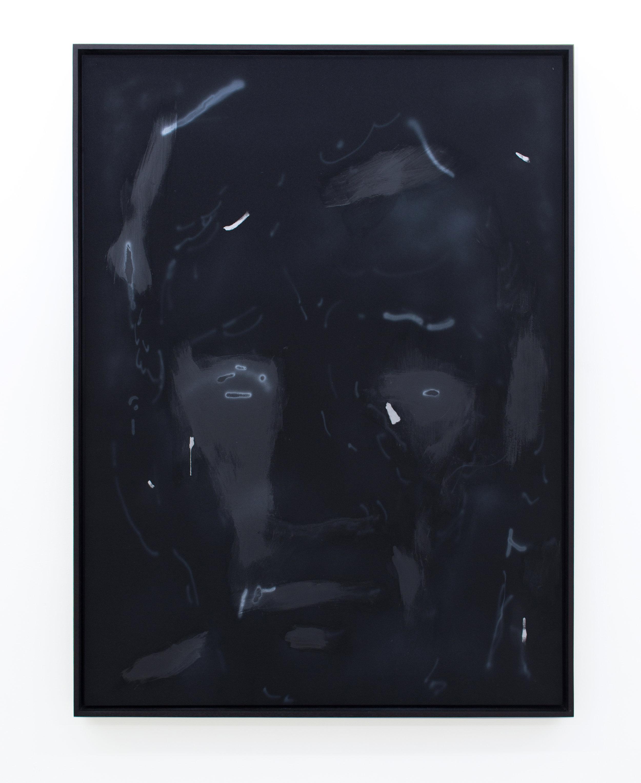 Ian Swanson   Empathy Creeps,  2016 Acrylic, gesso, rubber, enamel on polyester in mahogany artists frame