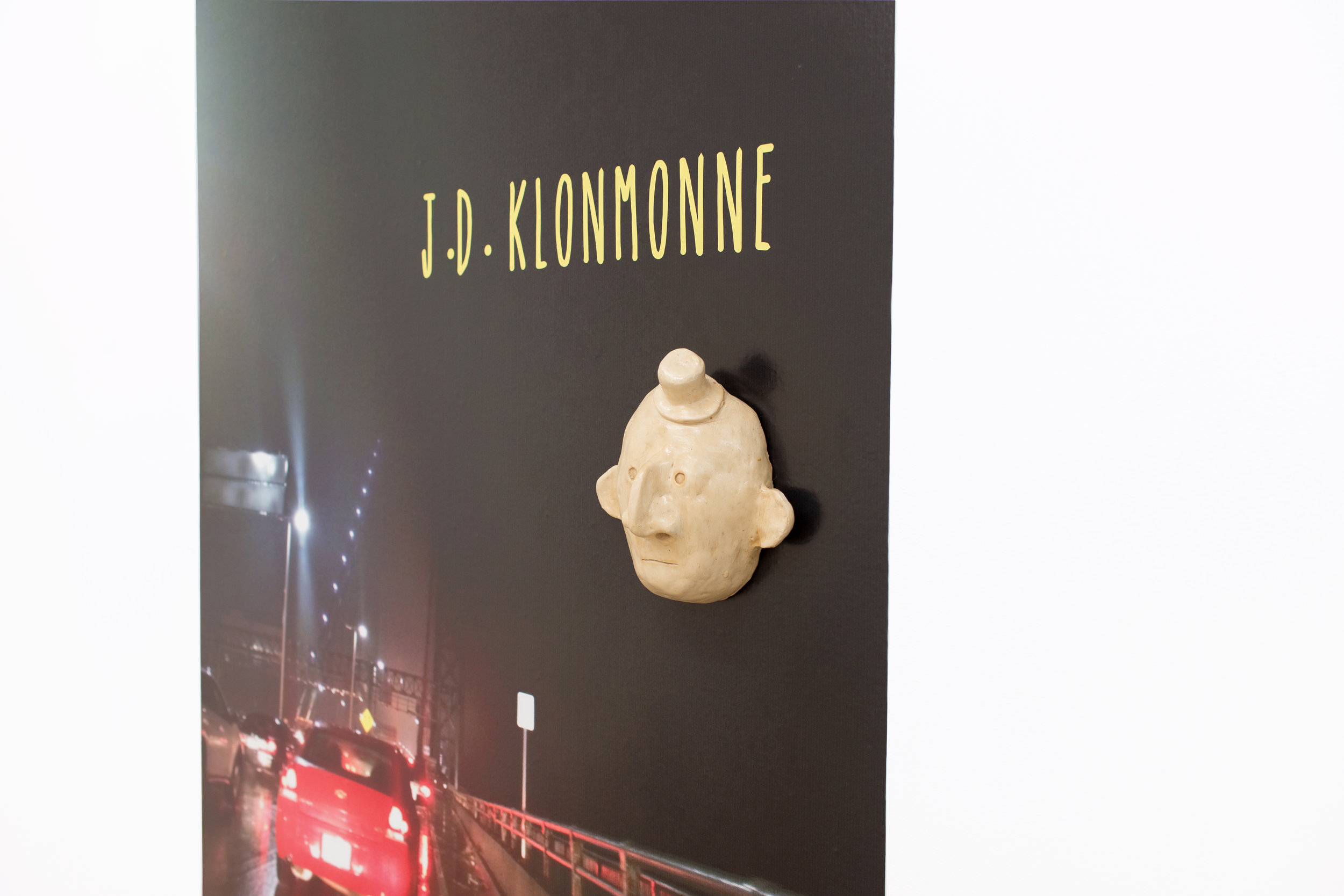 Libby Rothfeld   Untitled (J.D. Klonemonne),  2017 Vinyl and ceramic