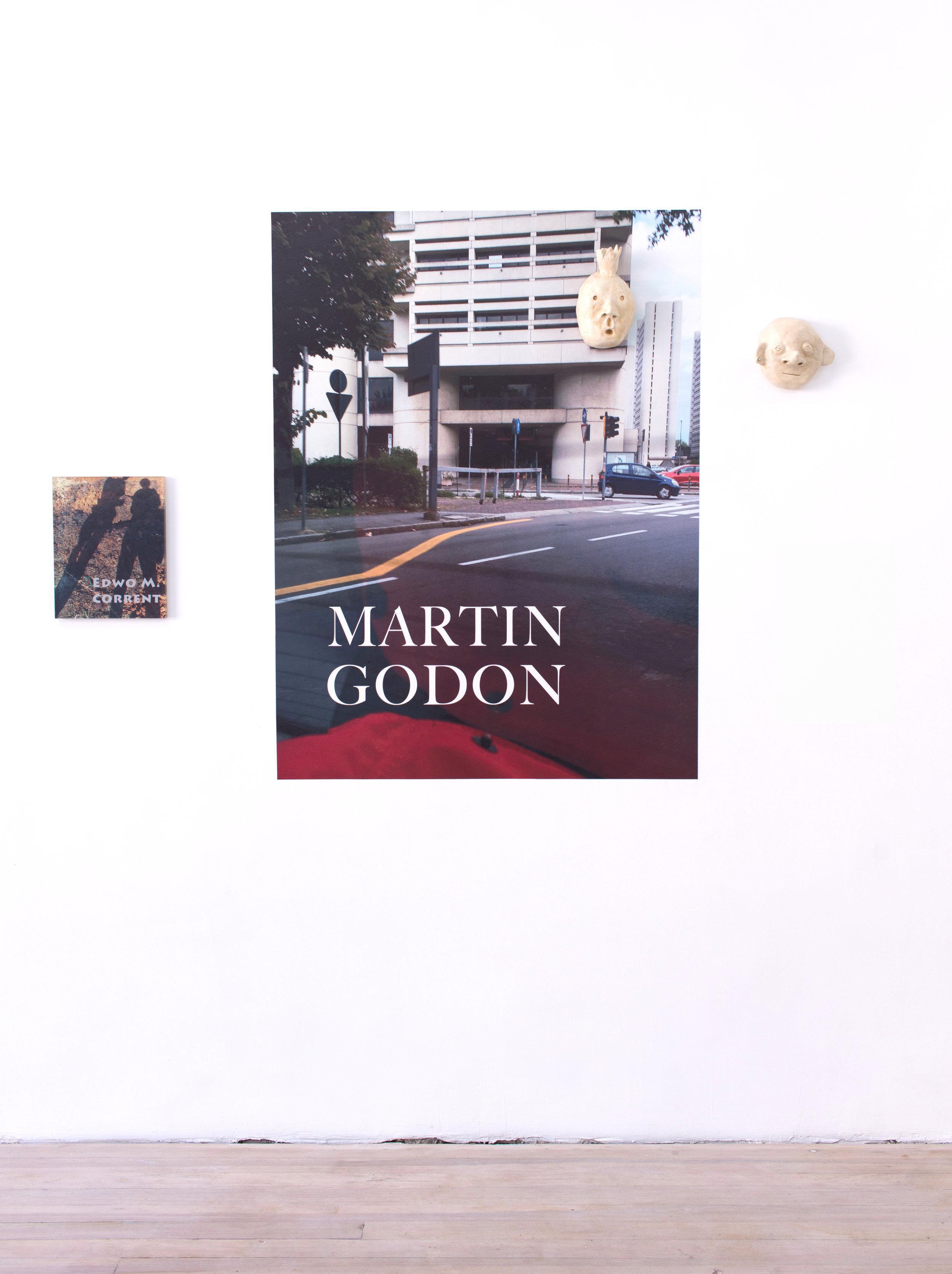 Libby Rothfeld   Untitled (Martin Godon),  2017 Vinyl and acrylic print