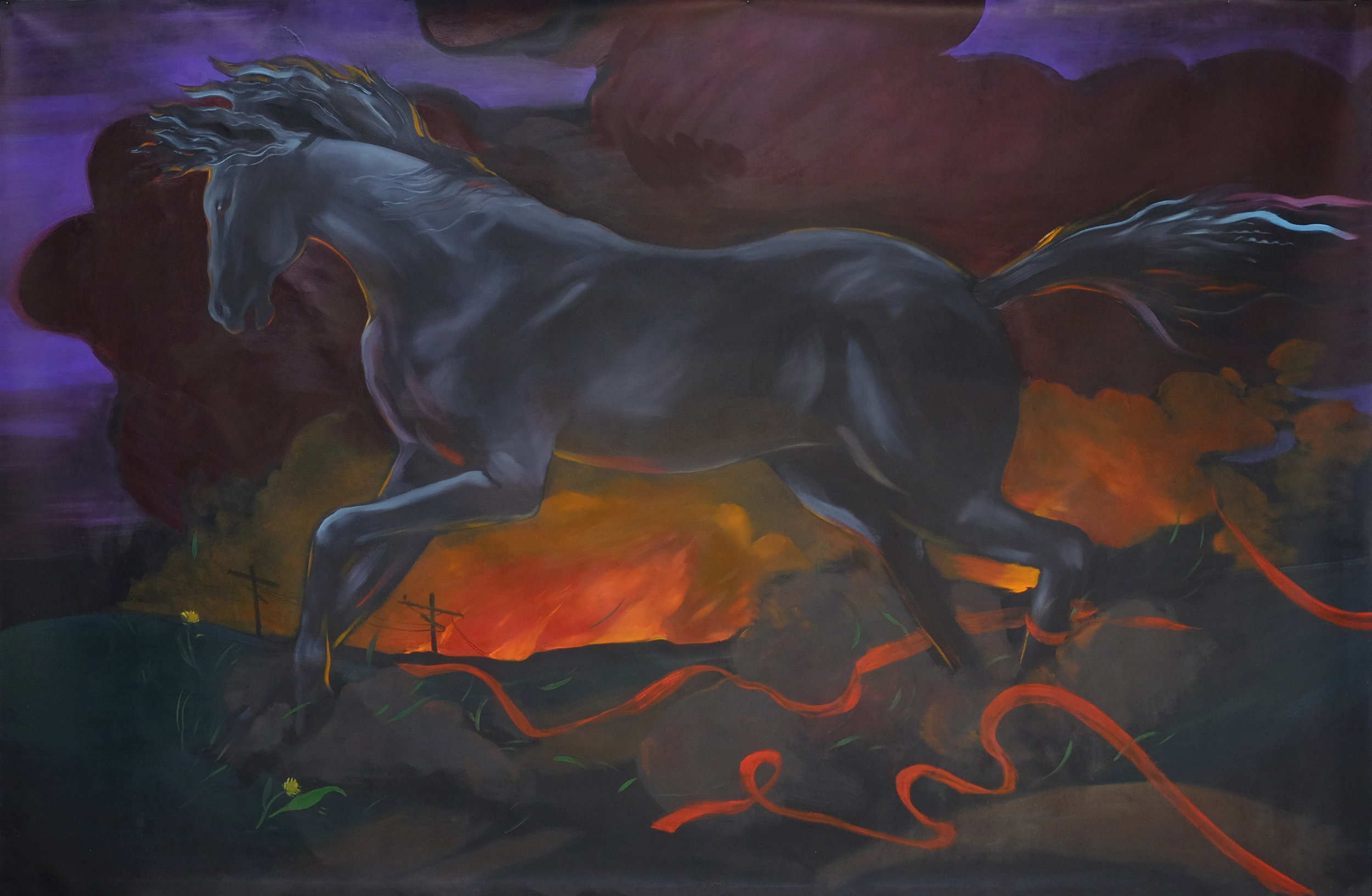 Haley Josephs   Pale Horse, 2017  Oil on canvas  65.5 x 99 inches