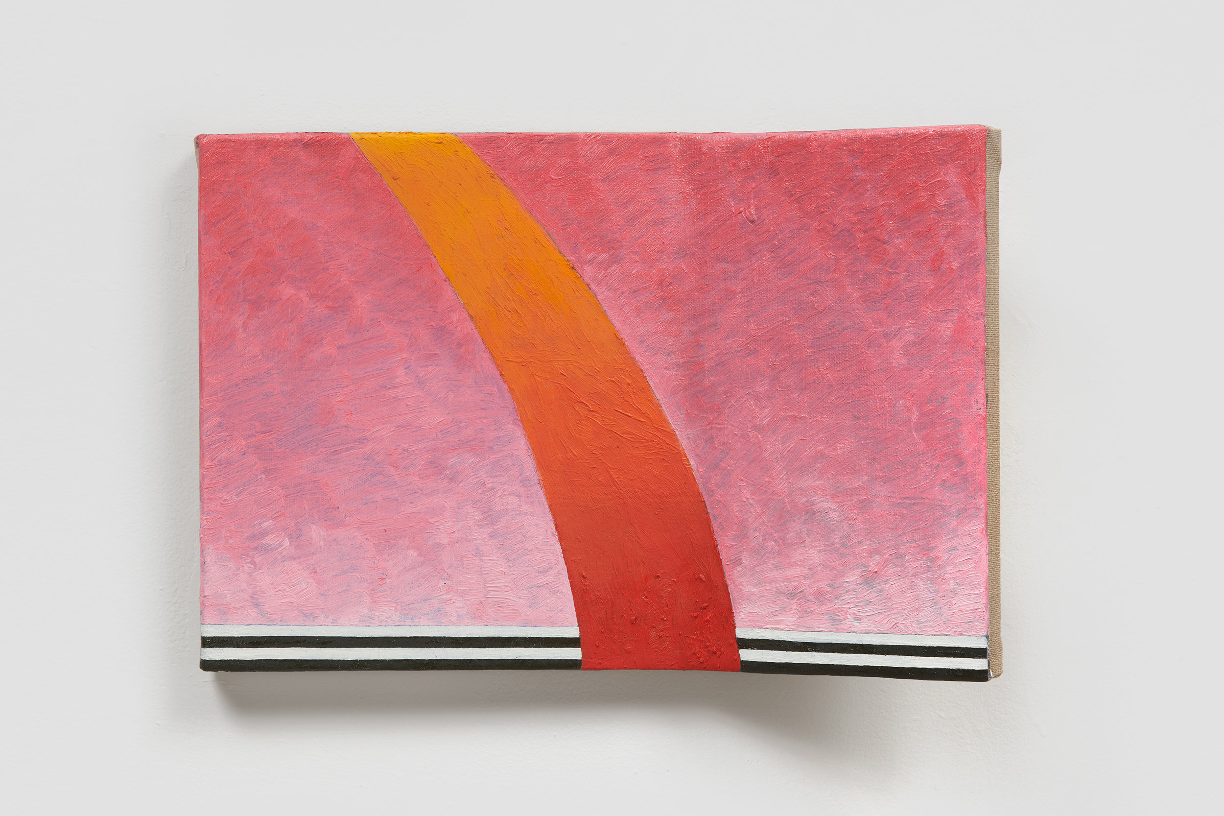 Ezra Tessler   Roamin Omen,  2018 Oil and wax on linen on shaped wood 10 x 15 x 4 inches