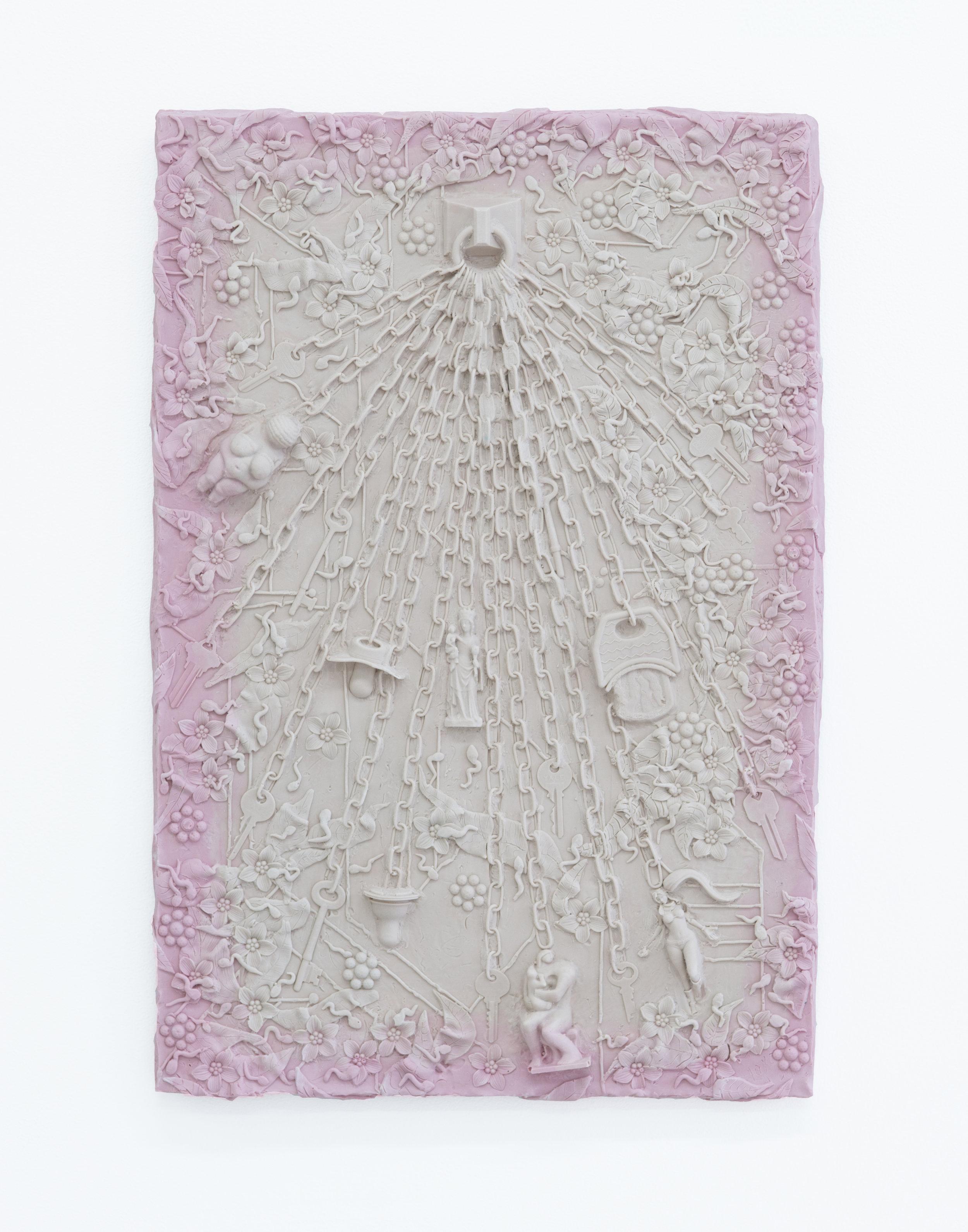 Loney Abrams + Johnny Stanish   Chatelaine,  2018  Aqua resin, berglass 26.5 x 18 inches
