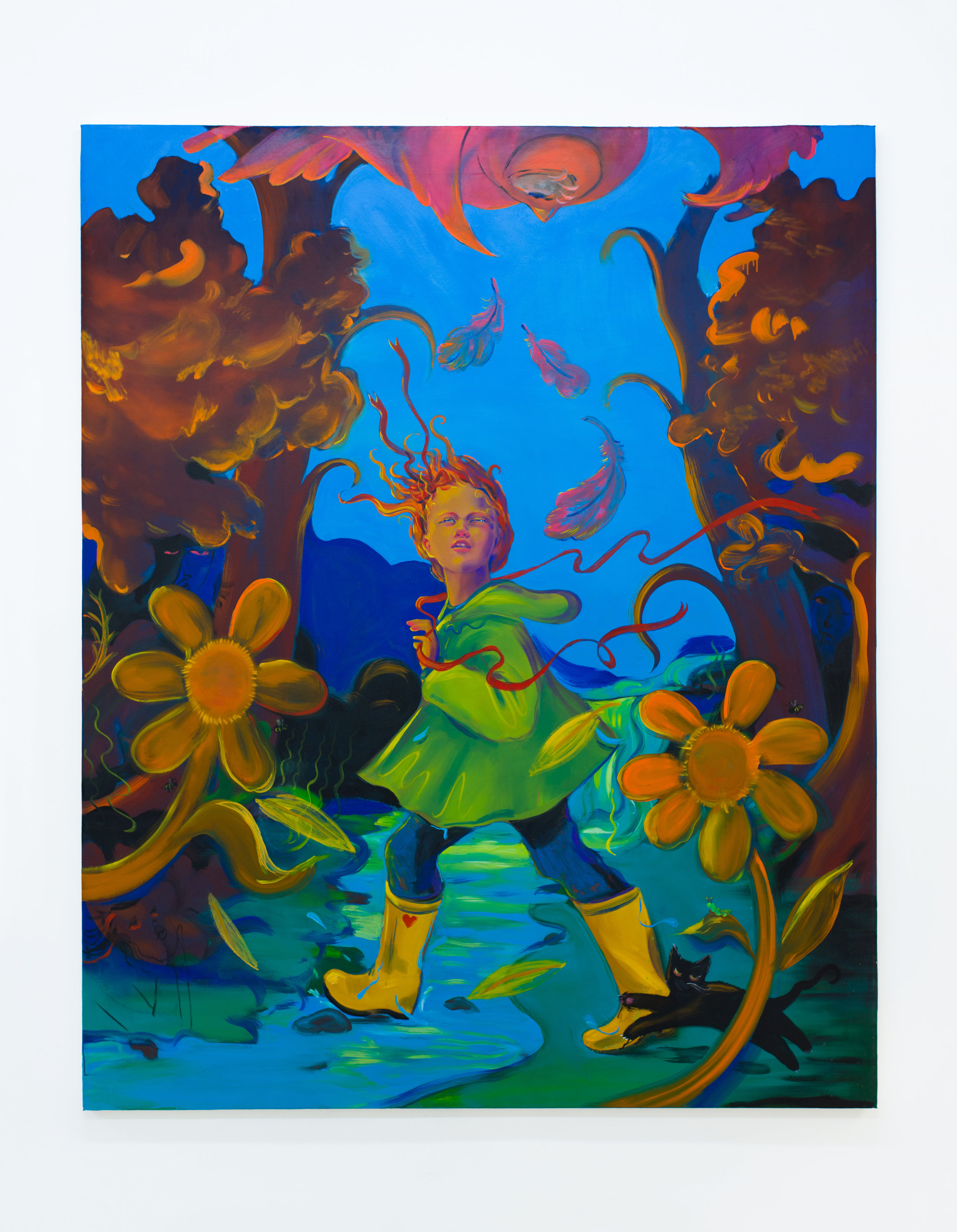 Haley Josephs   Climb Everyone Mountain, Ford Every Stream,  2018 Oil on canvas 89 x 72 inches