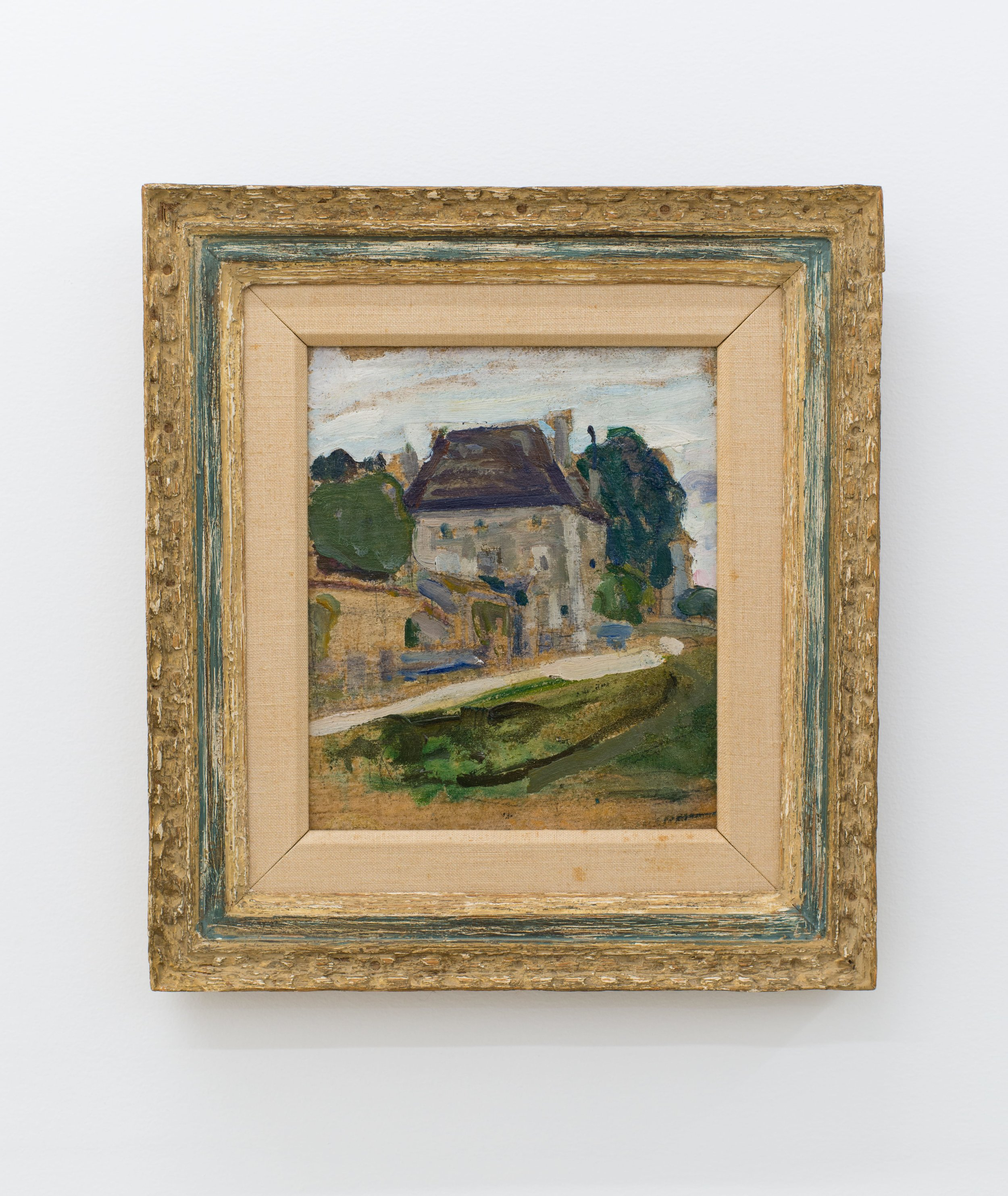 Henry Ossawa Tanner    French Chateau- A Study,  c. 1912 Oil on board 12 x 10 inches