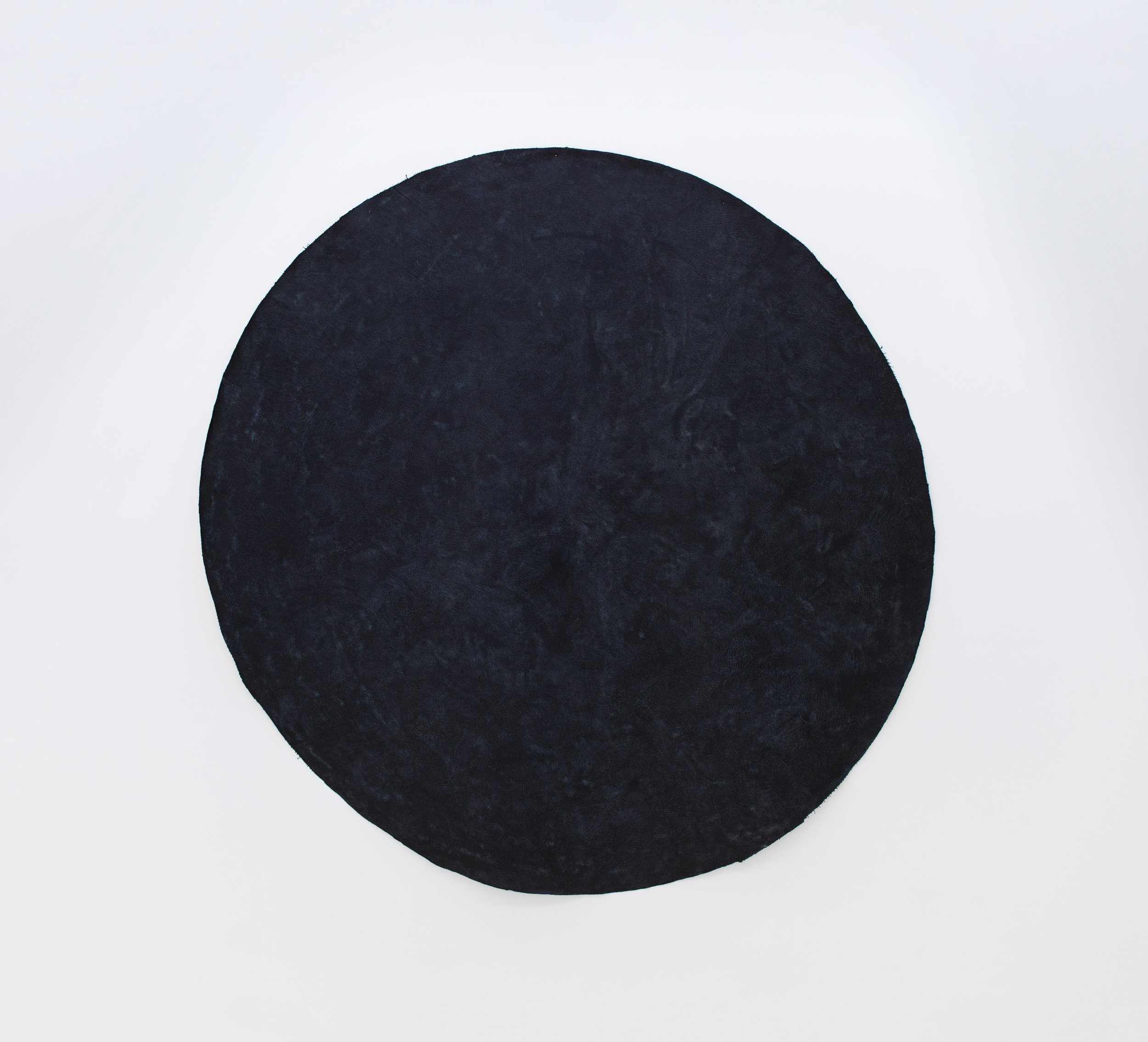 Quentin Morris   Untitled (February 2019),  2019 Silkscreen ink and acrylic on canvas 72 inches in diameter