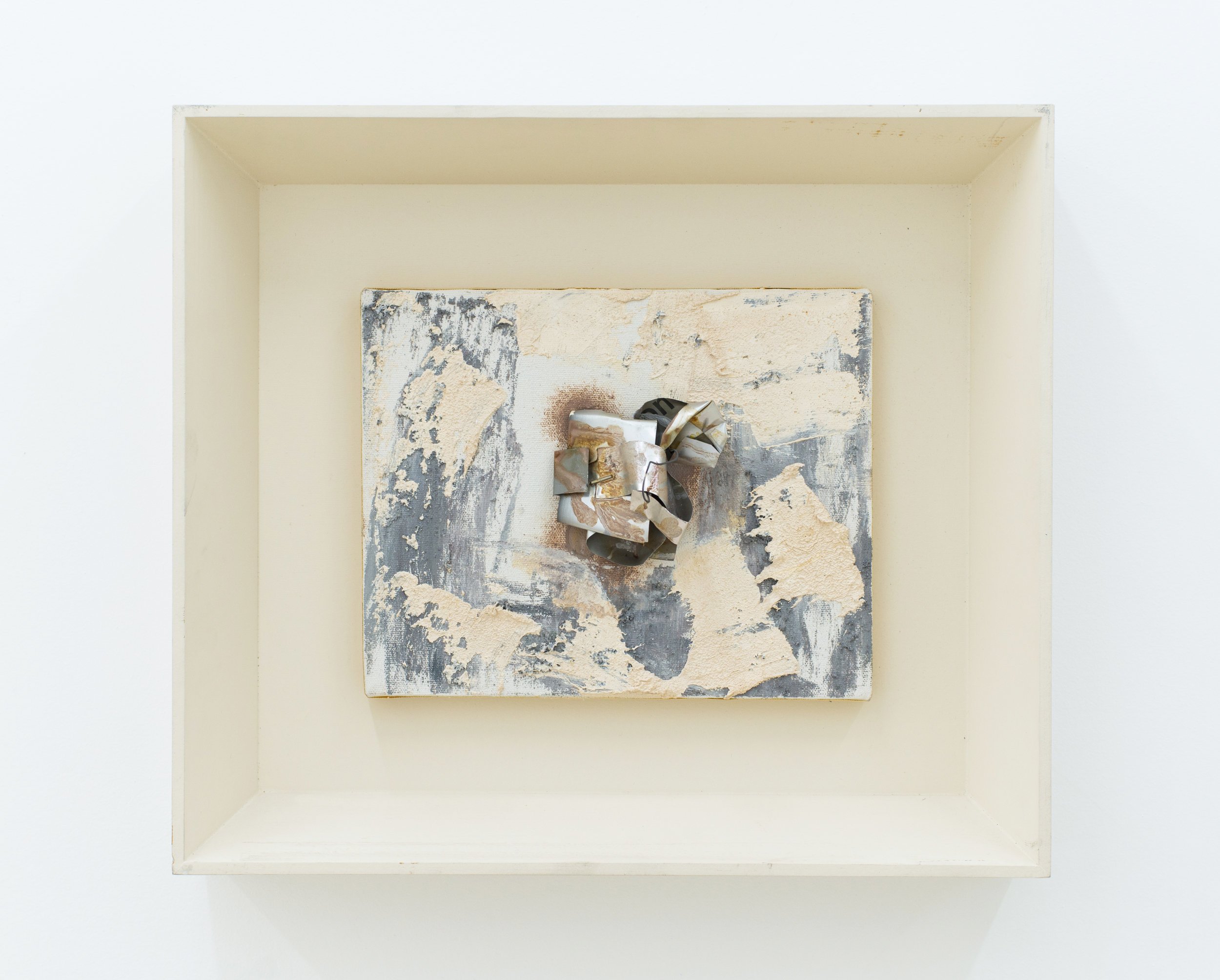 Louise Fishman   Untitled,  1994 Oil, aluminum, wire, staples and glue on canvas 8 x 10 inches