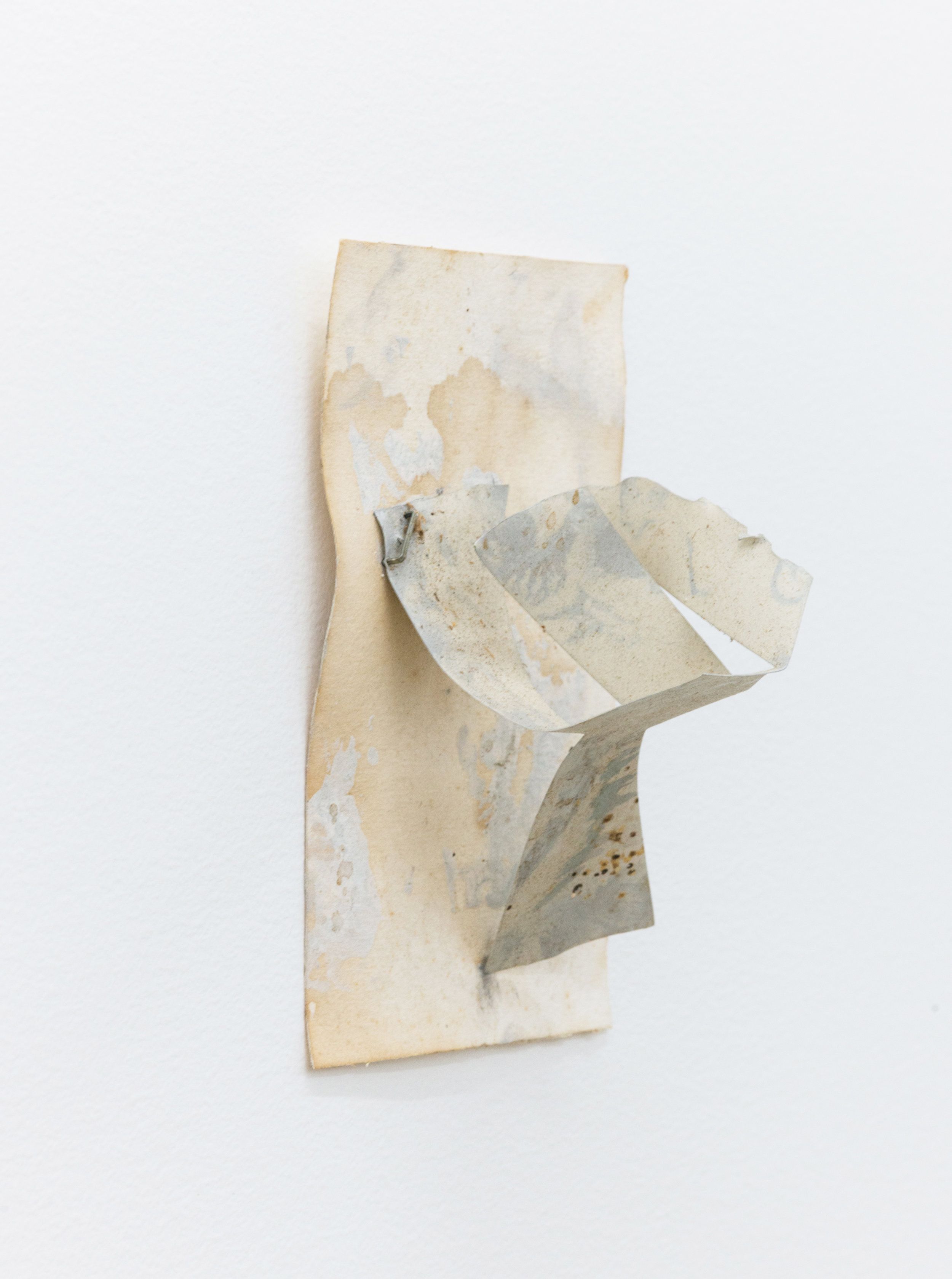 Louise Fishman   Untitled,  2008 Acrylic on aluminum sheet, staple, paper 4 x 3 x 3 inches