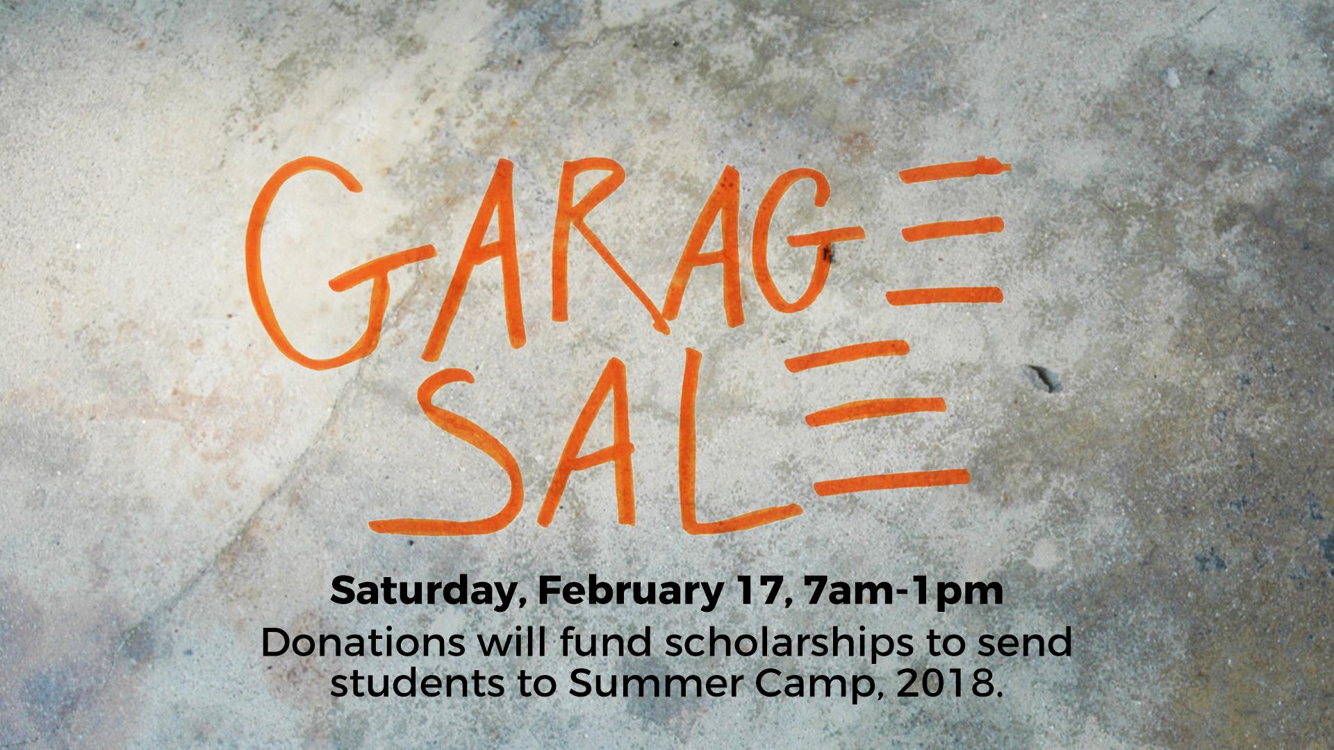 valley view garage sale fundraiser