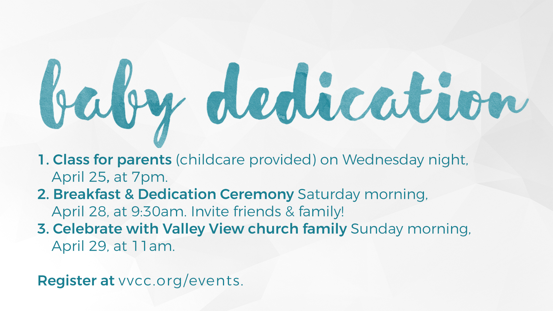 valley view dallas baby dedication 2018