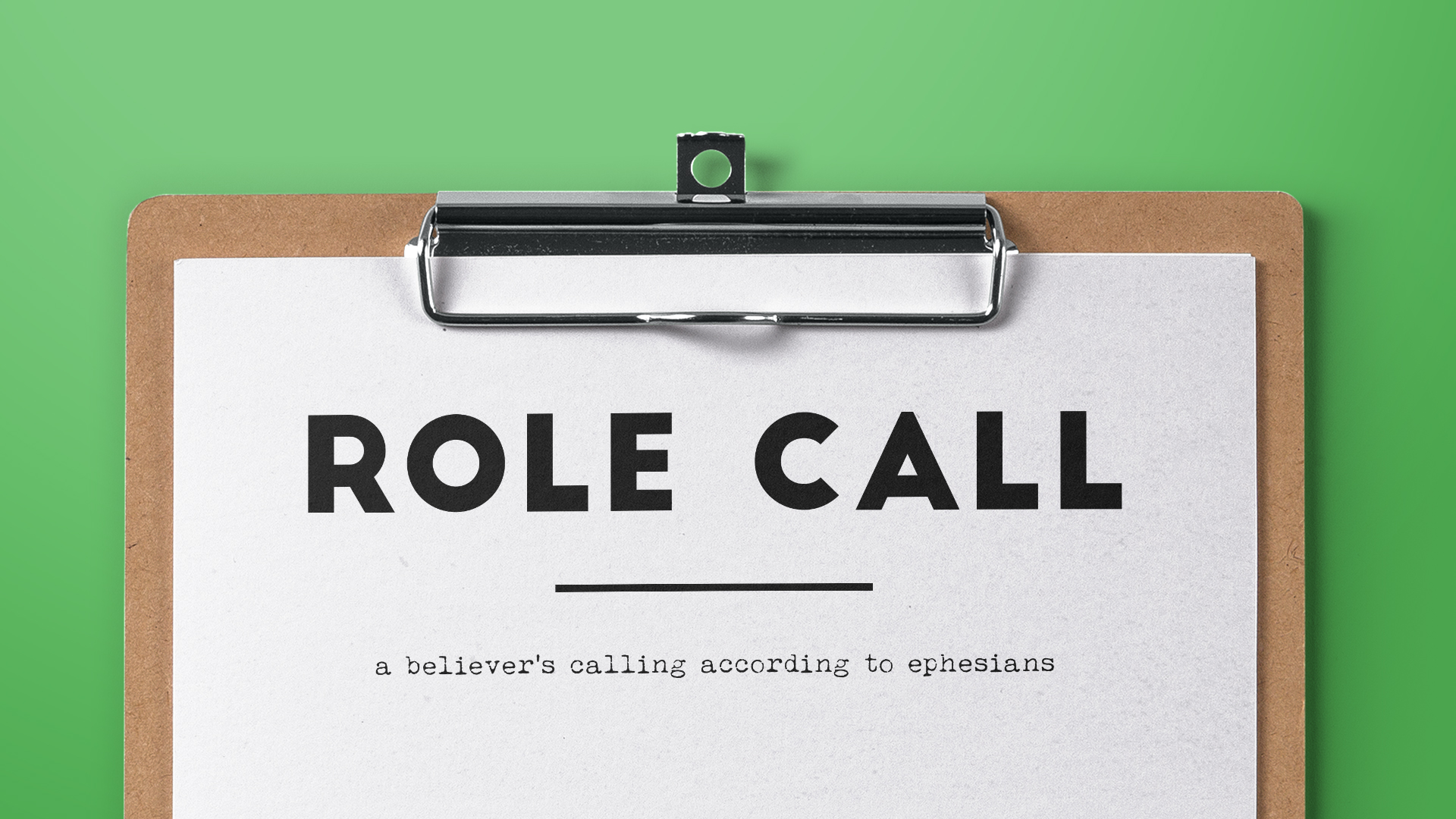 Role Call - April 28 - May 26, 2019