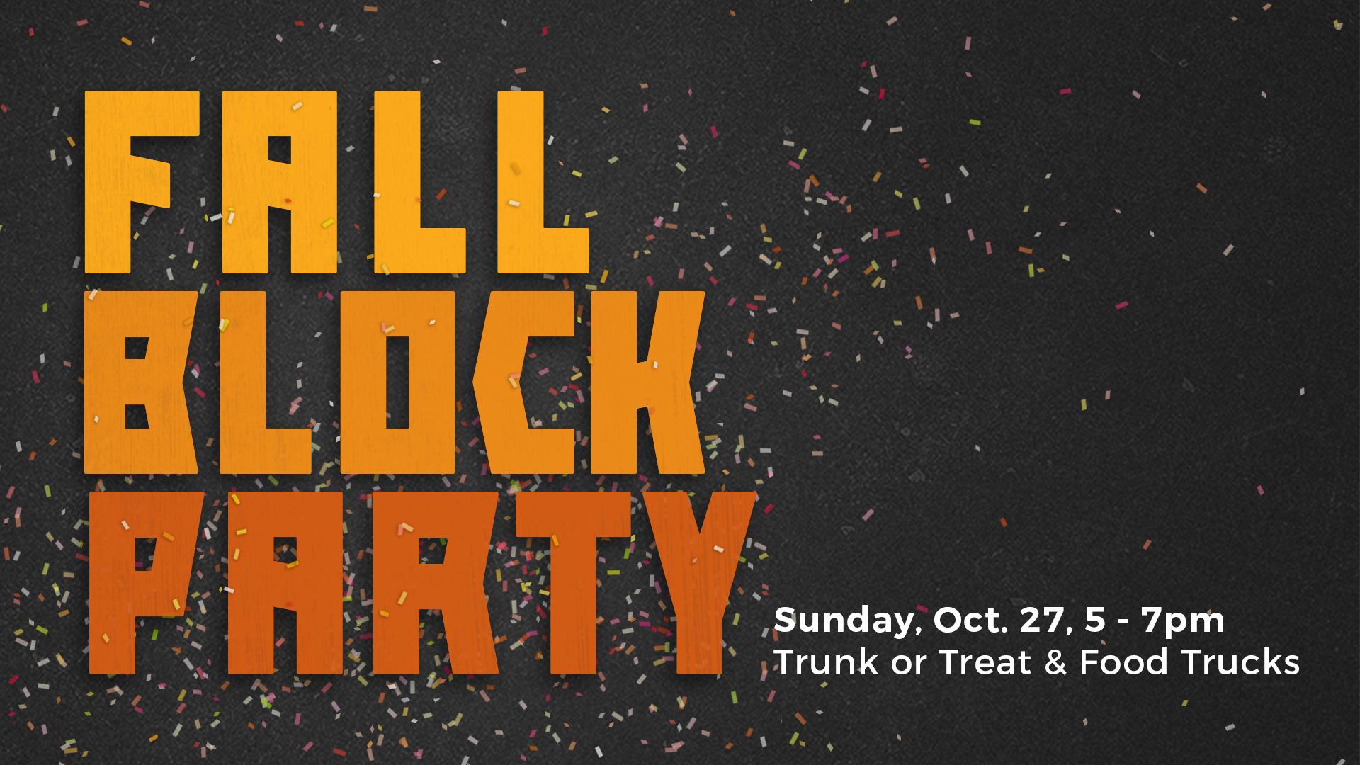 Fall Block Party dallas free trunk or treat
