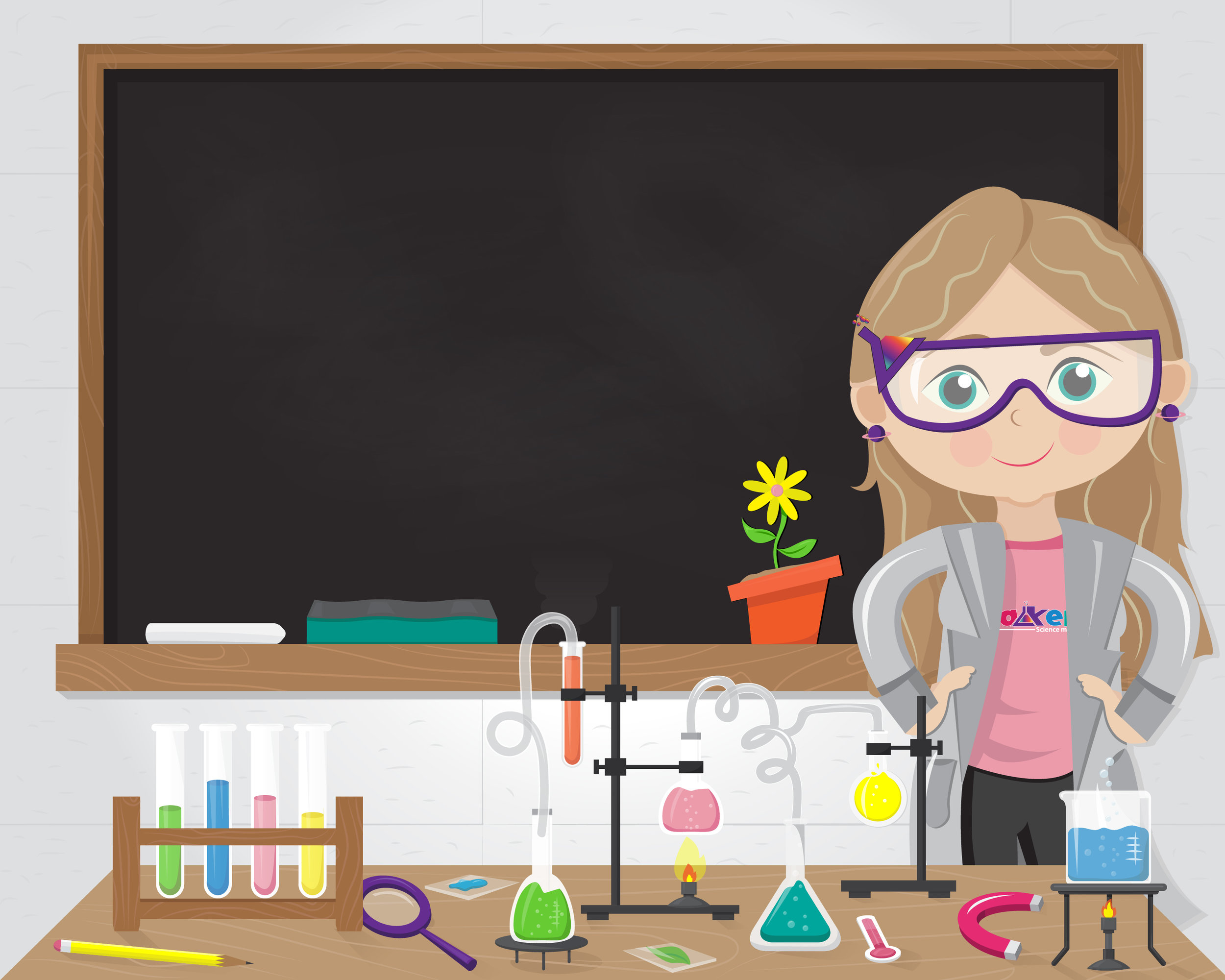 ILLUSTRATION FOR SUBSCRIPTION BOX SERIES OF SCIENCE PROJECTS