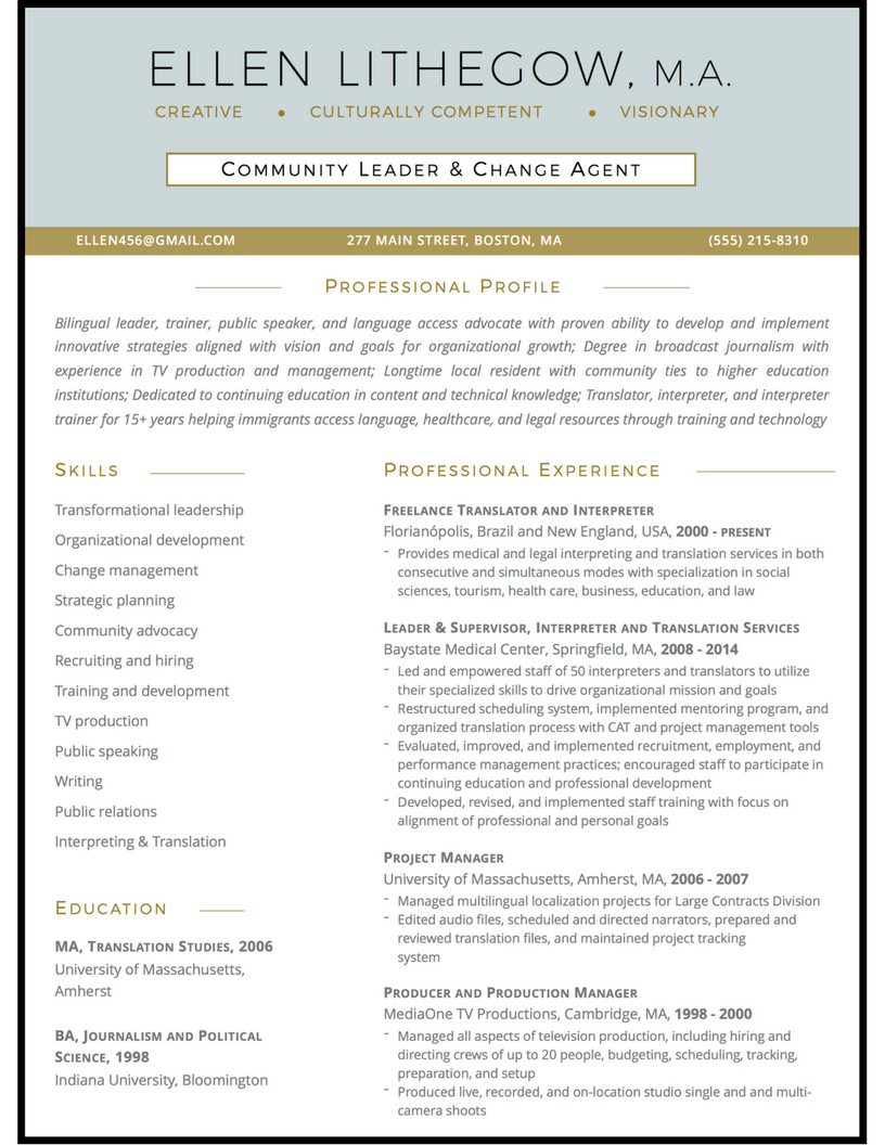community leader resume