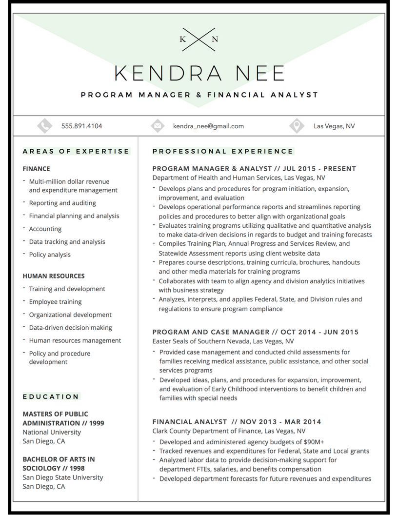 program manager resume