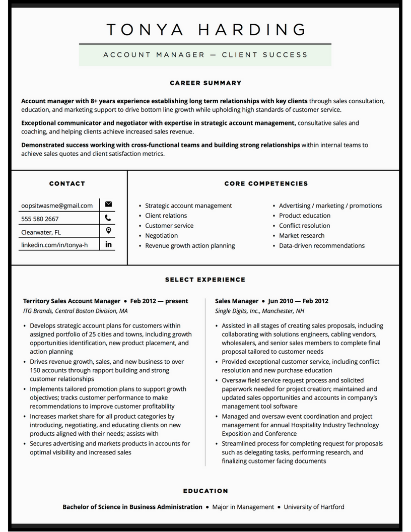 sales-account-manager-custom-resume-design-sample