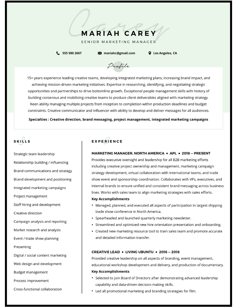 Customer Success Manager resume