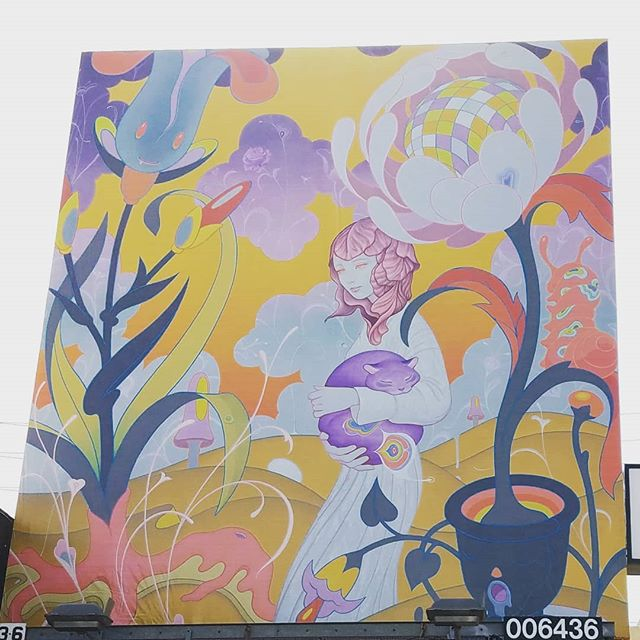 James Jean billboard outside of @giantrobotstore