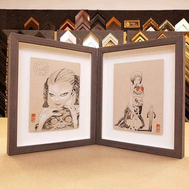 Junko drawings. #custompictureframing #pictureframing #art #drawing