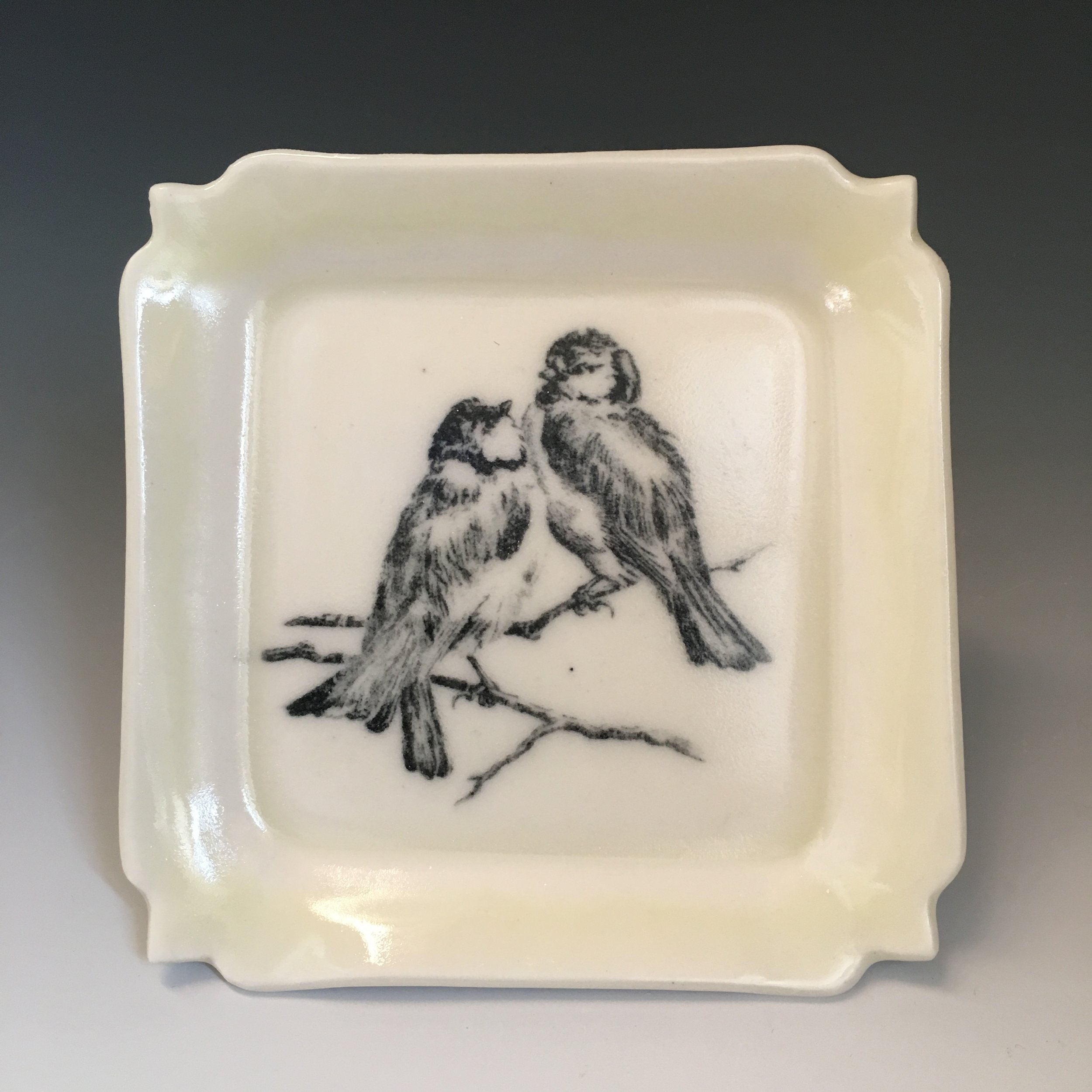 Lovebirds Tray