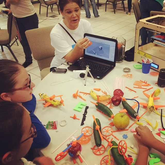 #3dprint, open source toys and veggies! #khdsanjose