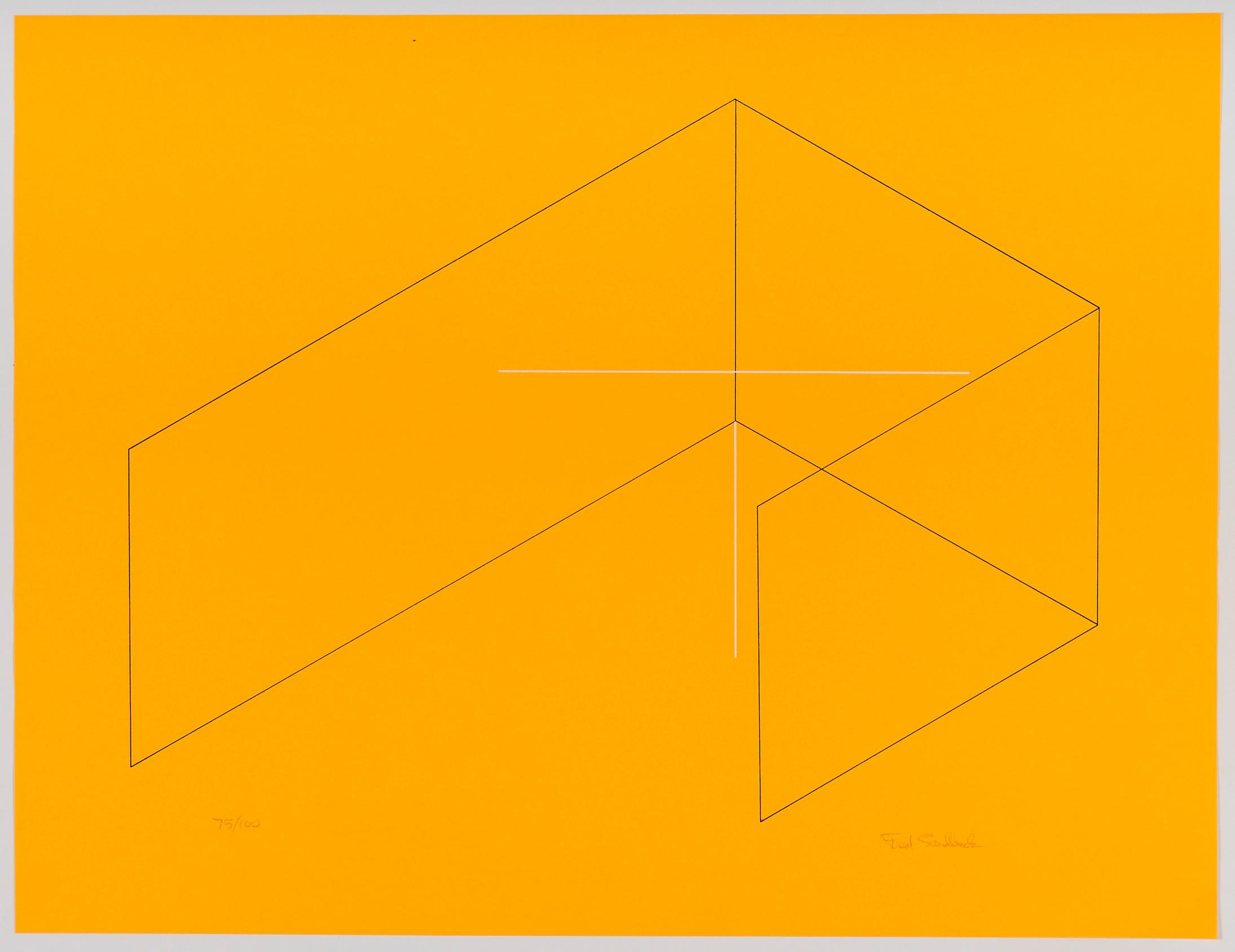Fred Sandback, Untitled, 1970, Silkscreen on paper