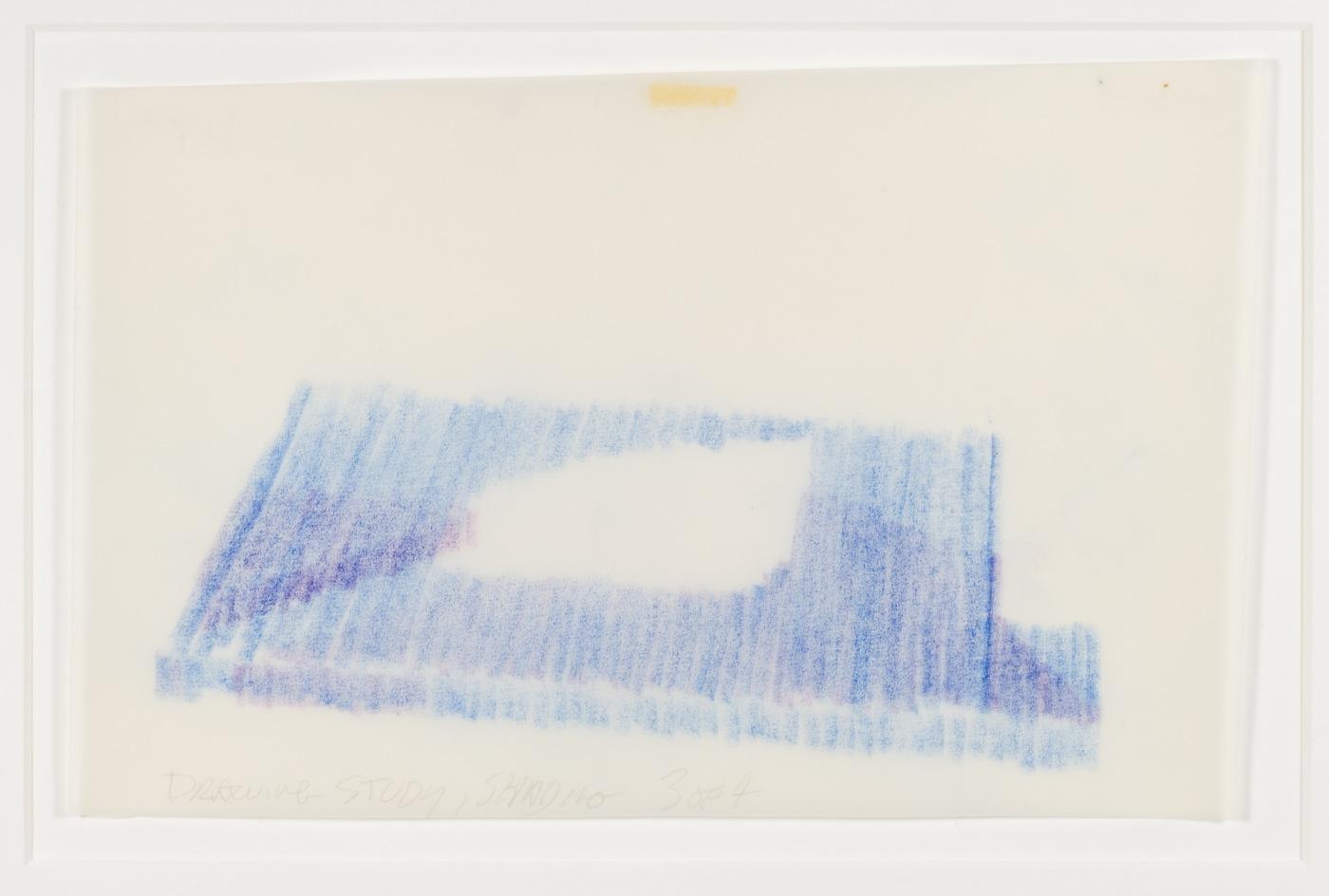 Max Neuhaus, Drawing Study, Shading, Spatial Interlock, Three to One, 1992