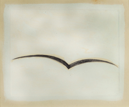 Robert Therrien, Untitled, 1980, Tempera and pencil on paper, 6 x 7 1/2 inches
