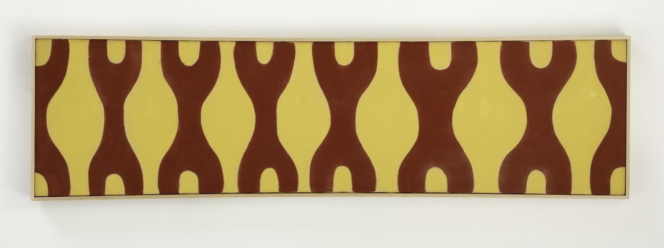 Paul Feeley,  #56 , 1962, Oil-based enamel on canvas, 16 x 60 inches, PFE6227  Lawrence Markey Inc.  5/5