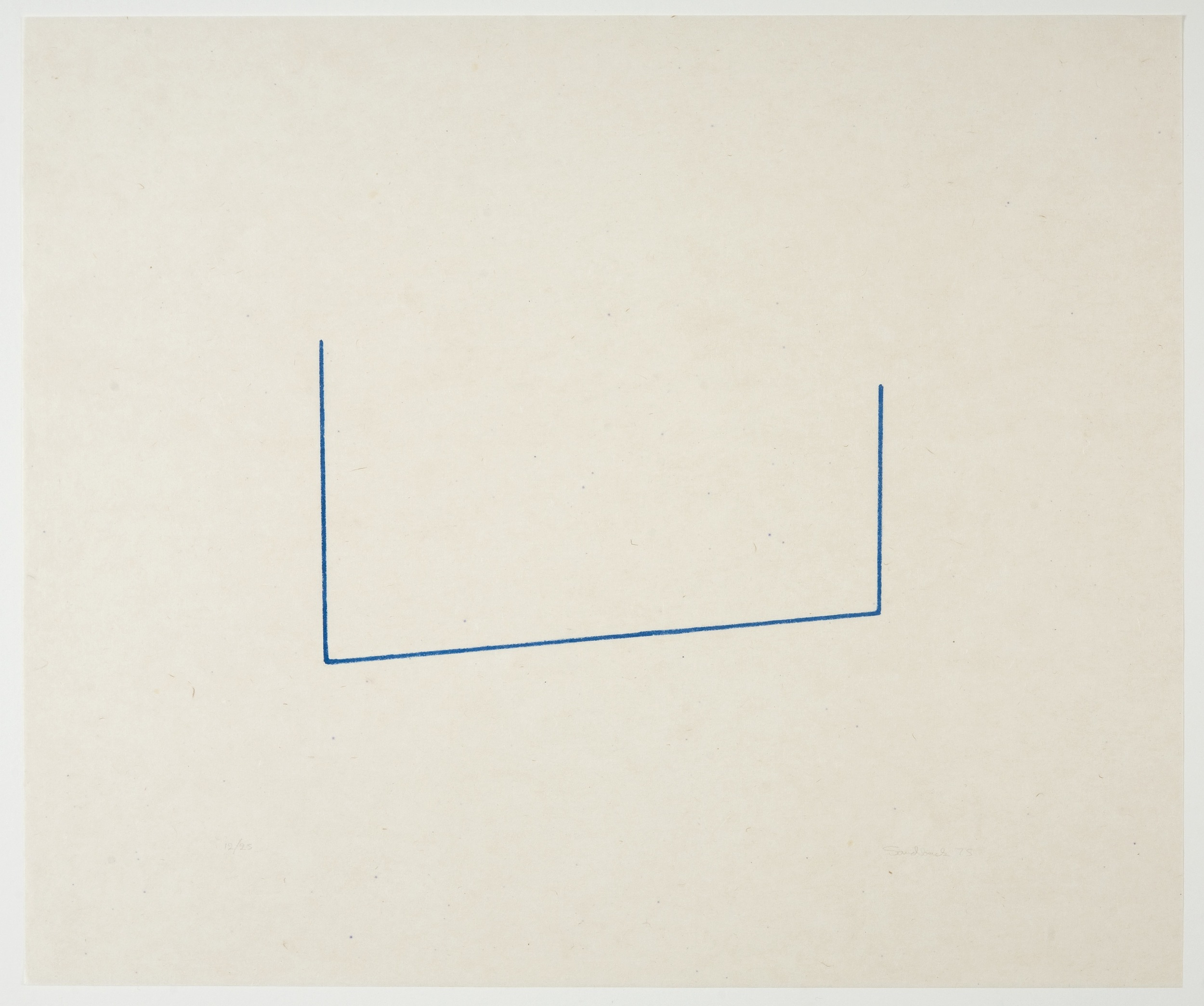 Fred Sandback, Untitled, 1975, Lithograph on paper