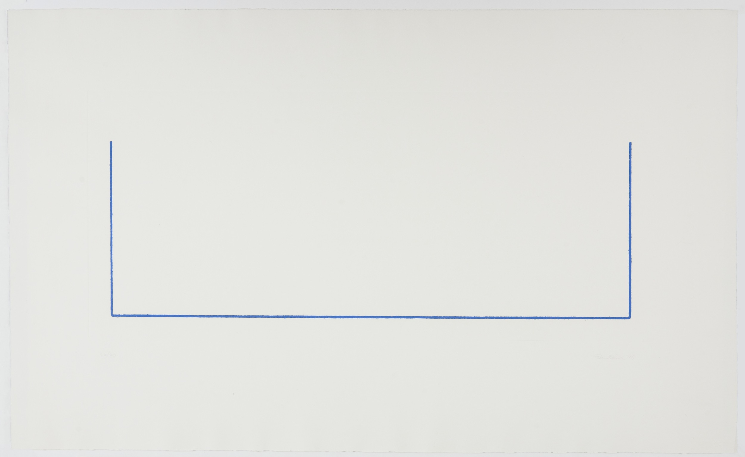 Fred Sandback, Untitled, 1976, Etching with aquatint on paper
