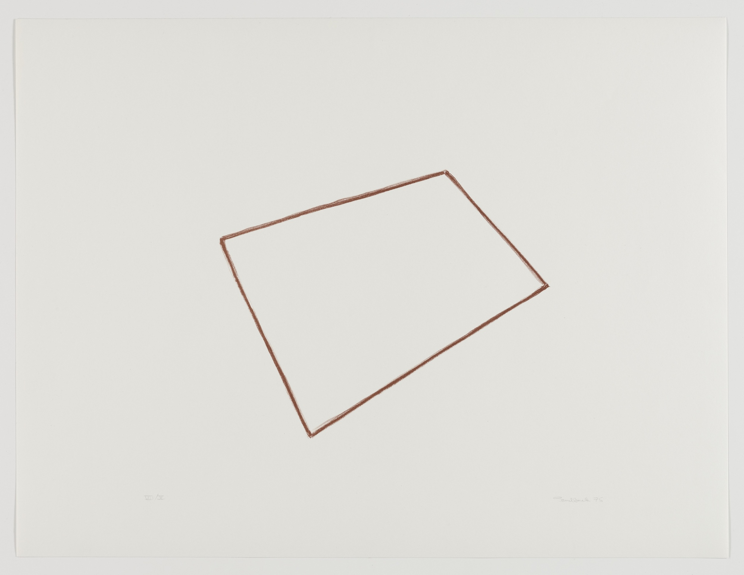 Fred Sandback, Untitled, 1975, Lithograph on handmade paper