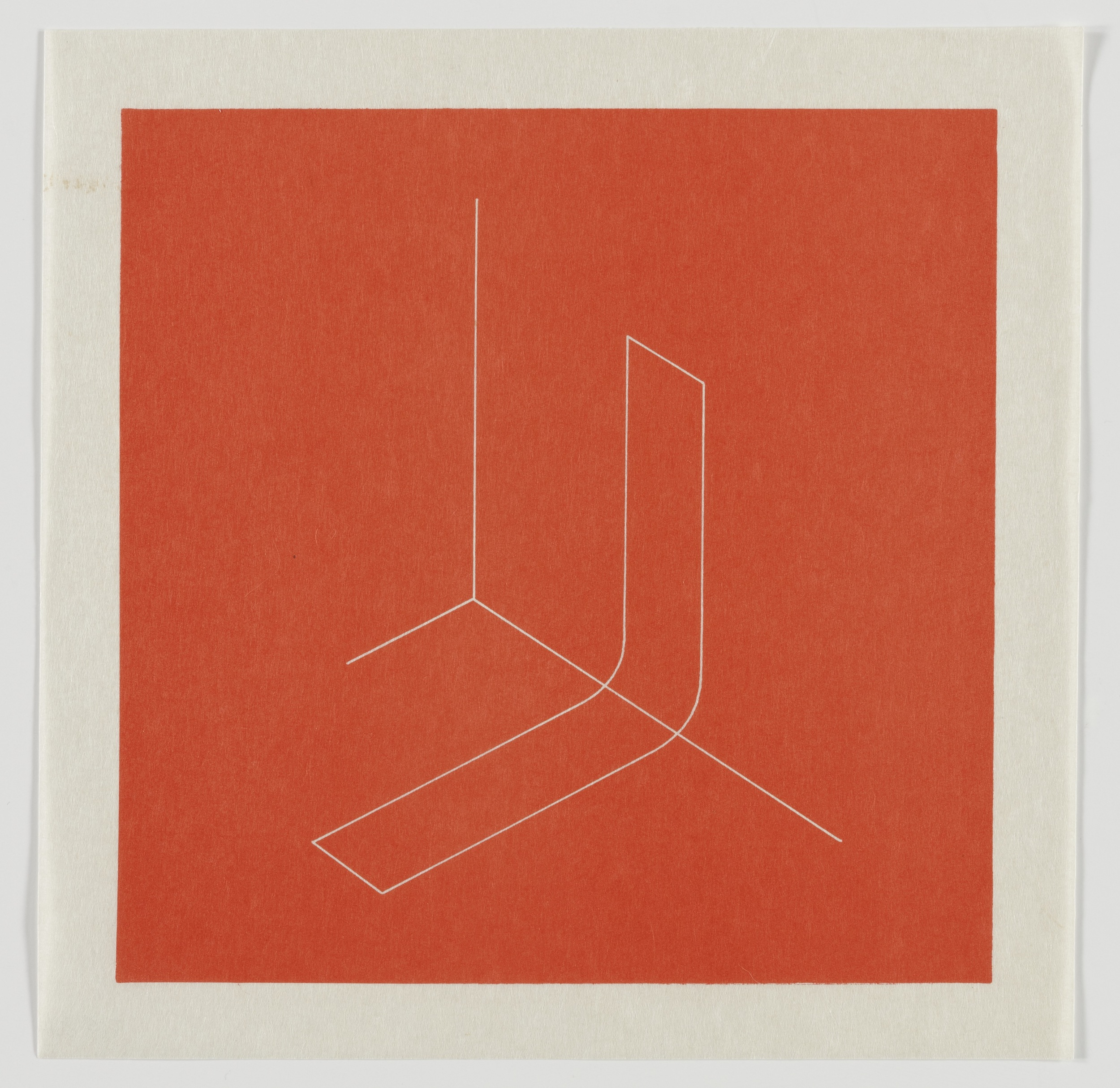 Fred Sandback, Untitled, 1979, Lithograph on Japanese paper