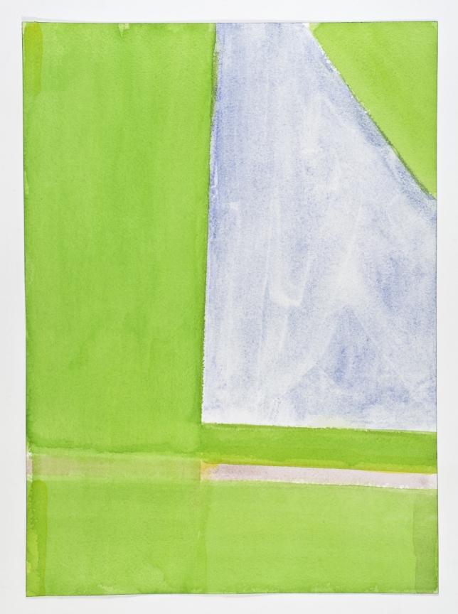 John Zurier,  Borgarfjörður Eystri 8 , 2015, Watercolor on paper, 14 1/8 x 10 1/4 inches, JZU1508  3/6  Lawrence Markey Inc.