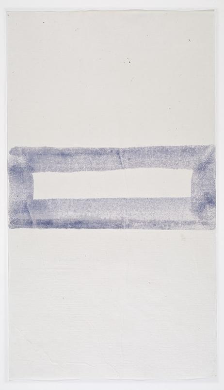 John Zurier,  Héraðsdalur (Summer) 3 , 2014, Watercolor on Korean paper, 13 13/16 x 7 13/16 inches, JZU1413  4/6  Lawrence Markey Inc.