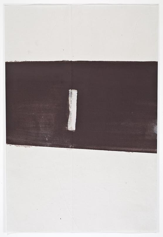 John Zurier,  Héraðsdalur (Summer) 2 , 2014, Watercolor on Korean paper, 13 3/4 x 9 3/8 inches, JZU1412  6/6  Lawrence Markey Inc.