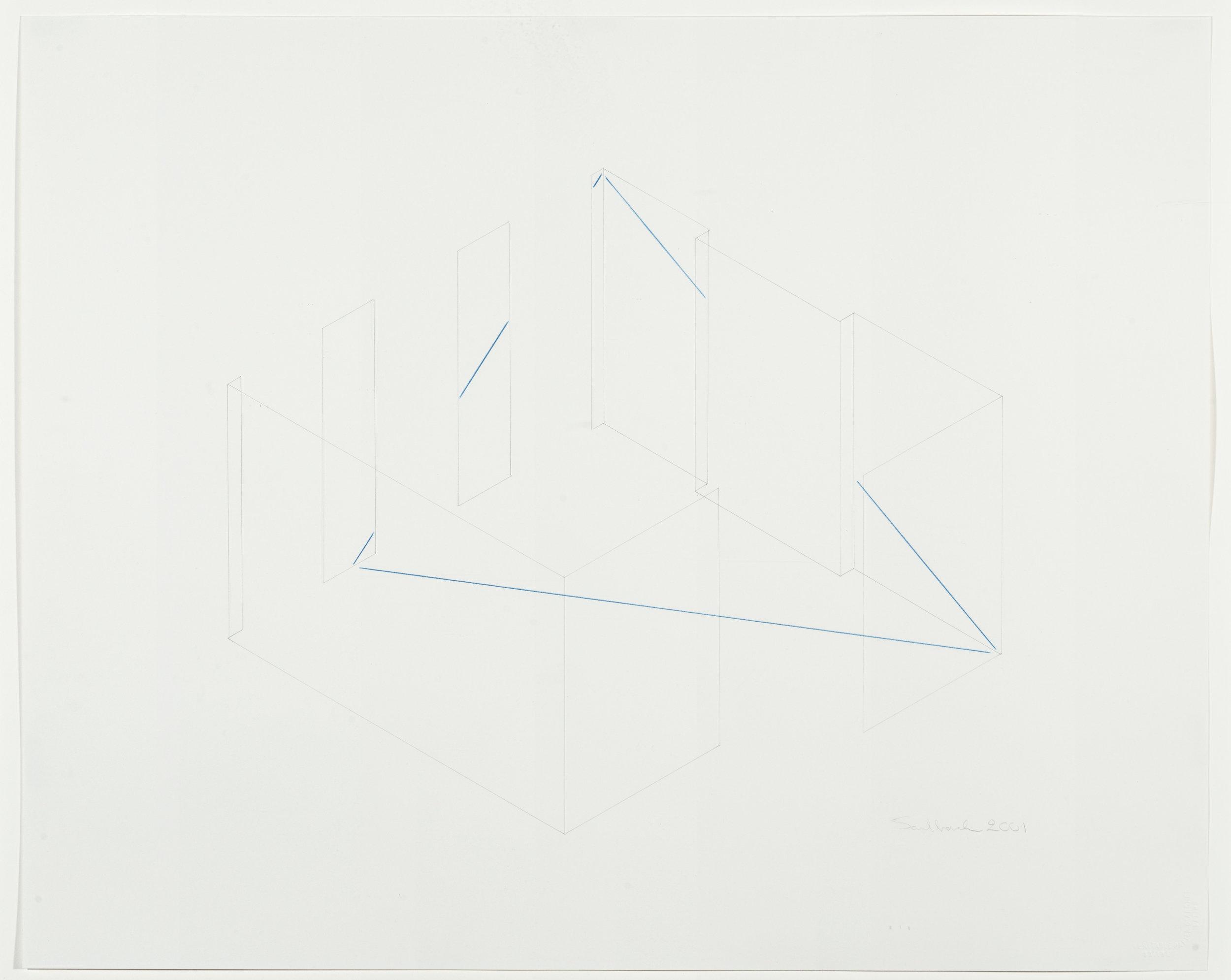 Fred Sandback, Untitled, 2001
