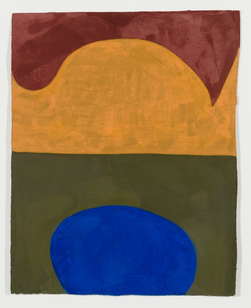 Suzan Frecon, composition in four colors, 2016