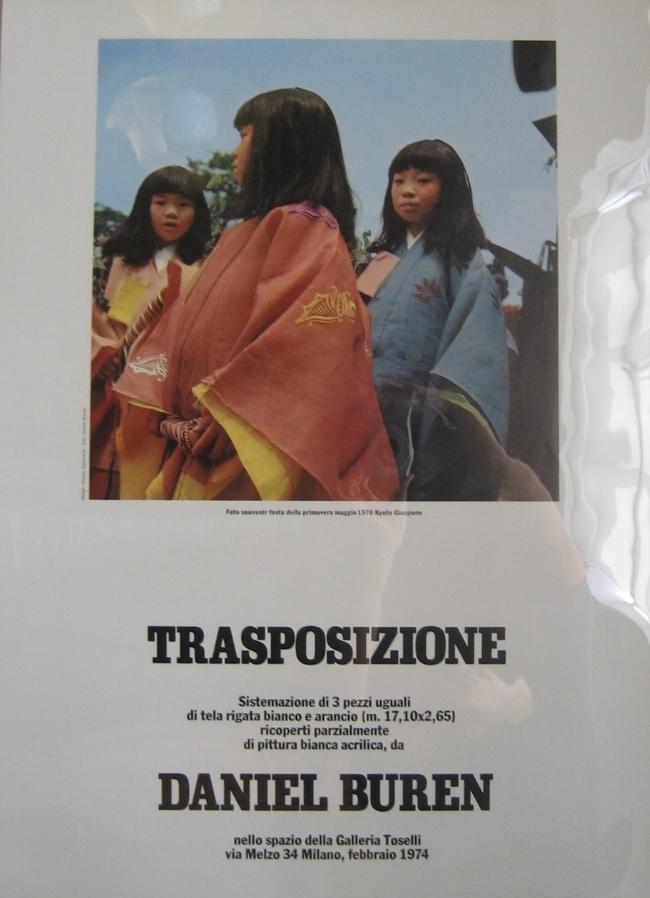 Daniel Buren   Trasposizione   February 1974  Gallerie Toselli