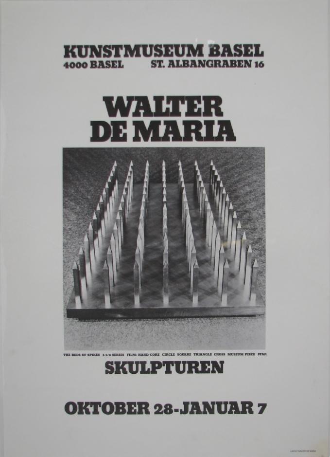 WALTER DE MARIA  Skulpturen  October 28–January 7, 1972  Kunstmuseum, Basel