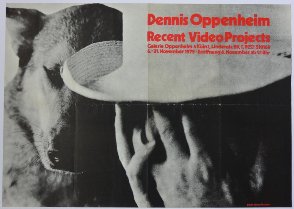 DENNIS OPPENHEIM   Recent Video Projects   November 6–31, 1975  Galerie Oppenheim, Köln