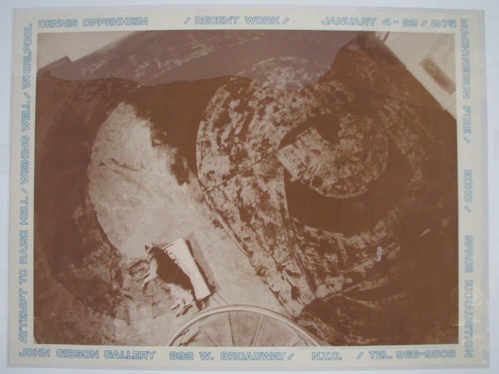 DENNIS OPPENHEIM  Recent Work  January 4–29, 1975  John Gibson Gallery, NYC