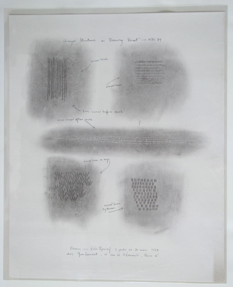 EDDA RENOUF  Dessins -- Edda Renouf  March 24, 1974  Galerie Yvon Lambert, Paris