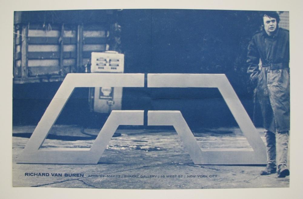 RICHARD VAN BUREN  Bykert Gallery, NYC  April 22–May 13